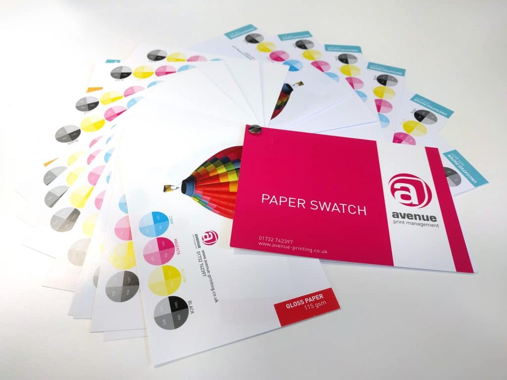 Avenue paper swatches