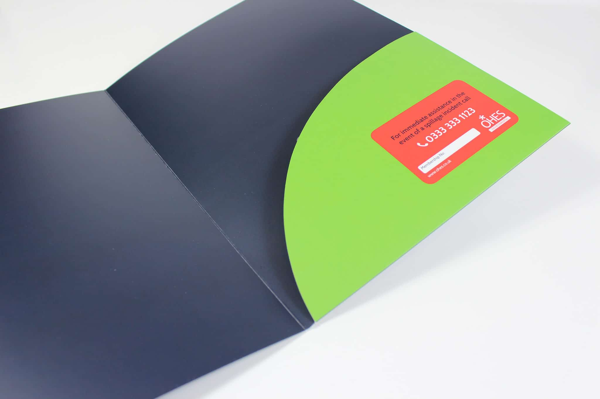 Printed Die-Cut Pocket Folder for OHES - Dark Blue