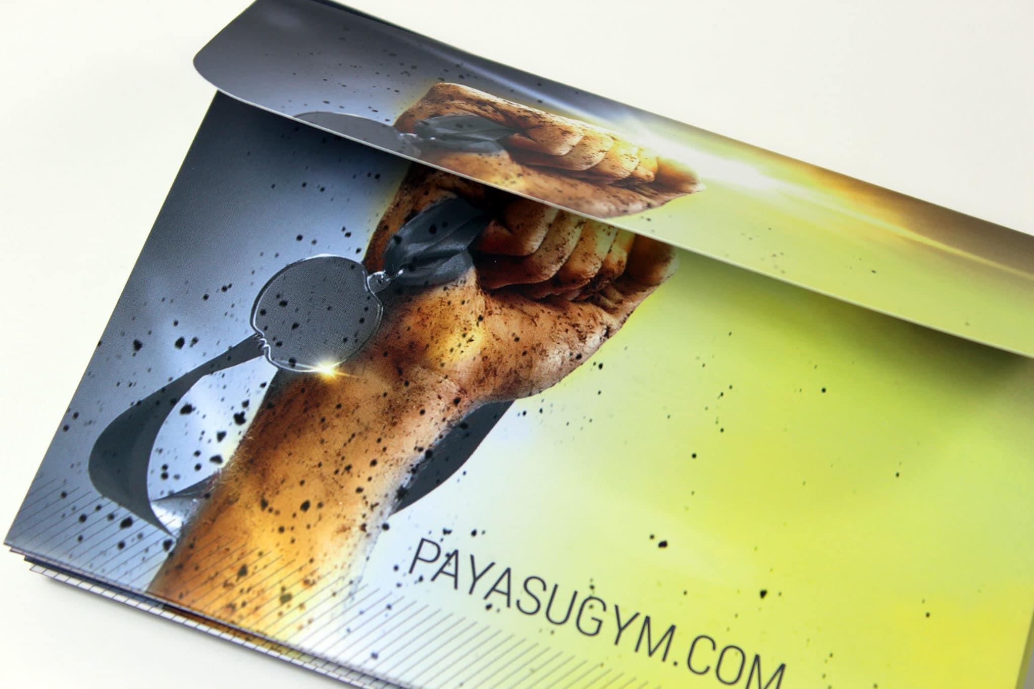 Pay as You Gym Printed Die-Cut wallet