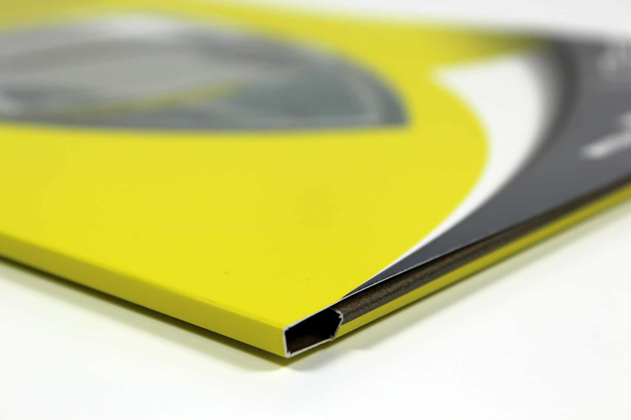 Printed Die-Cut Pocket Folder for Shield - Yellow