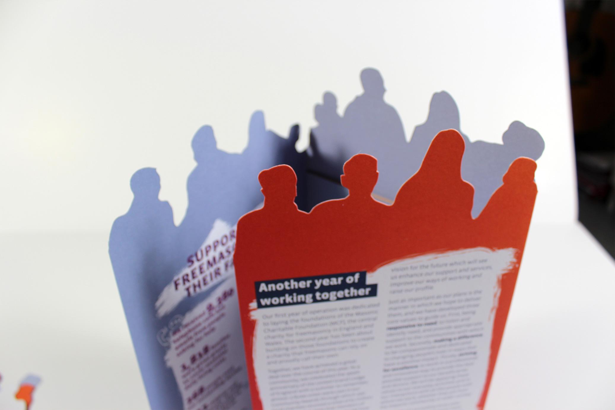 Brochure with unique die-cut shape