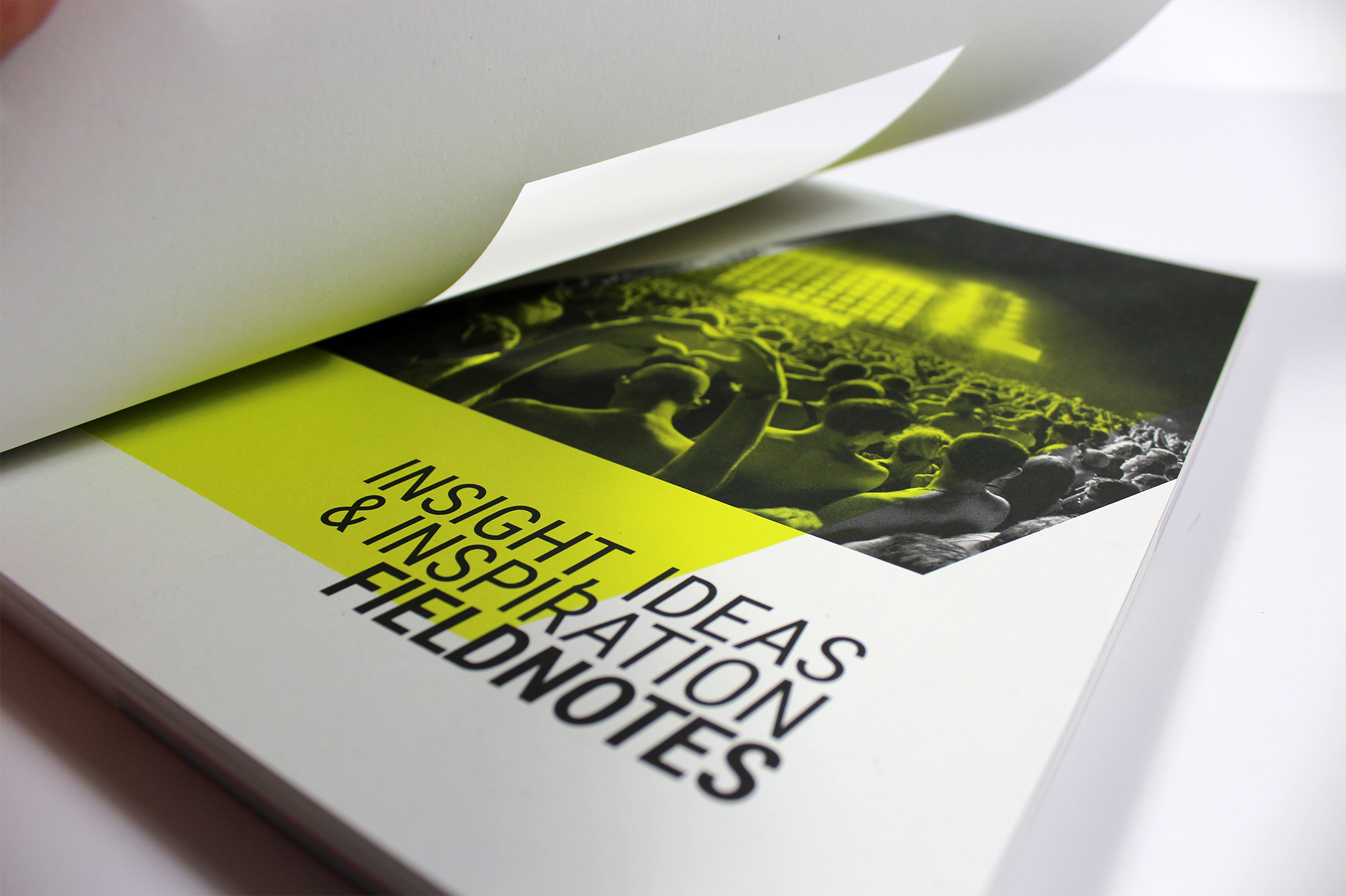 Printed catalogue with die-cut cover