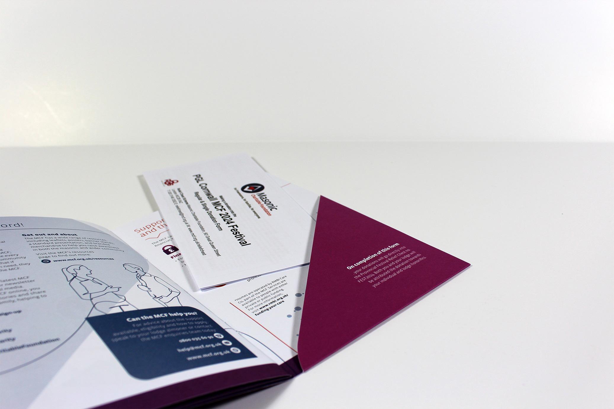 Pocket Folder with persoanlised information