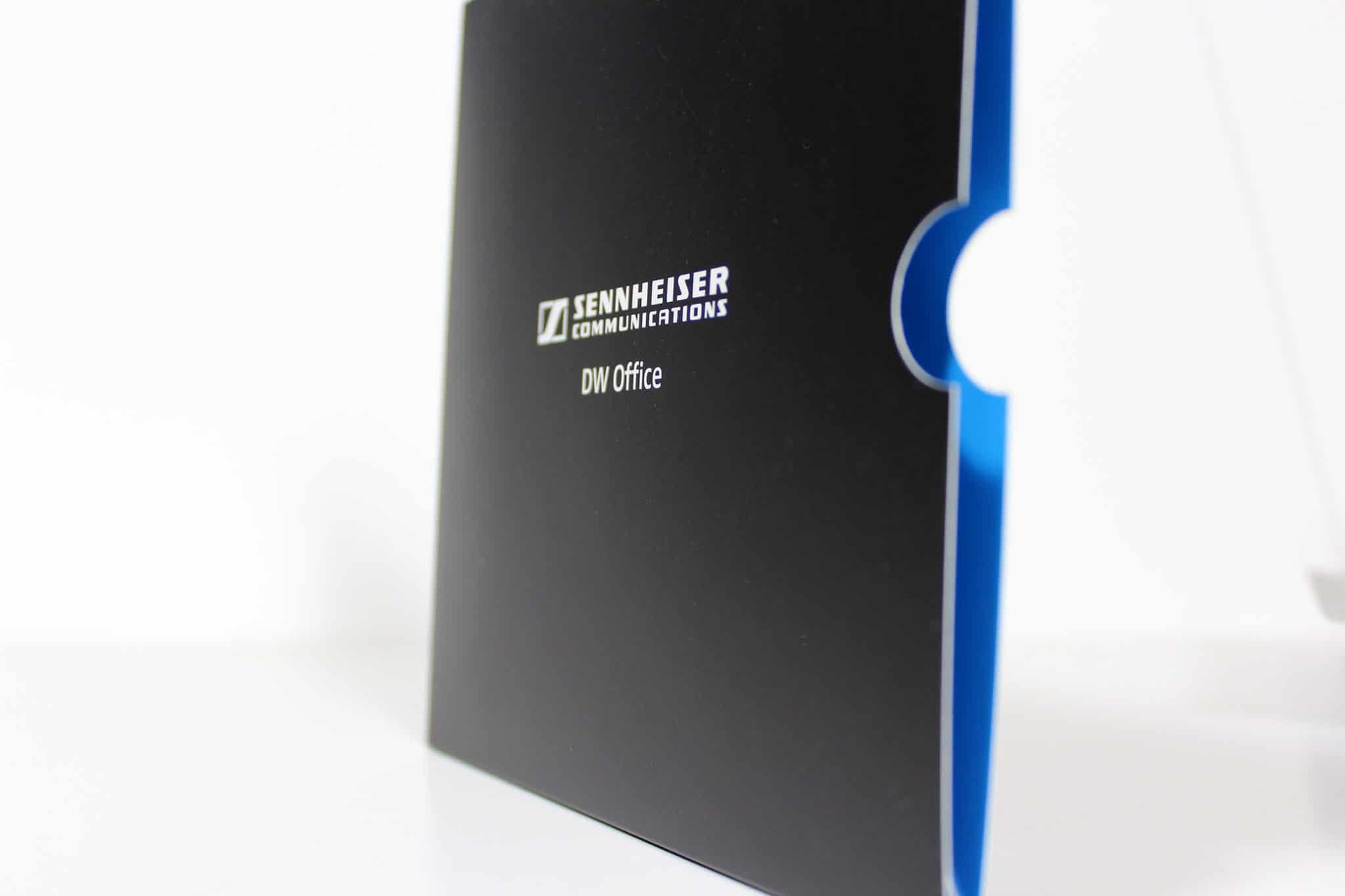 Printed die-cut sleeve with folded insert for Sennheiser