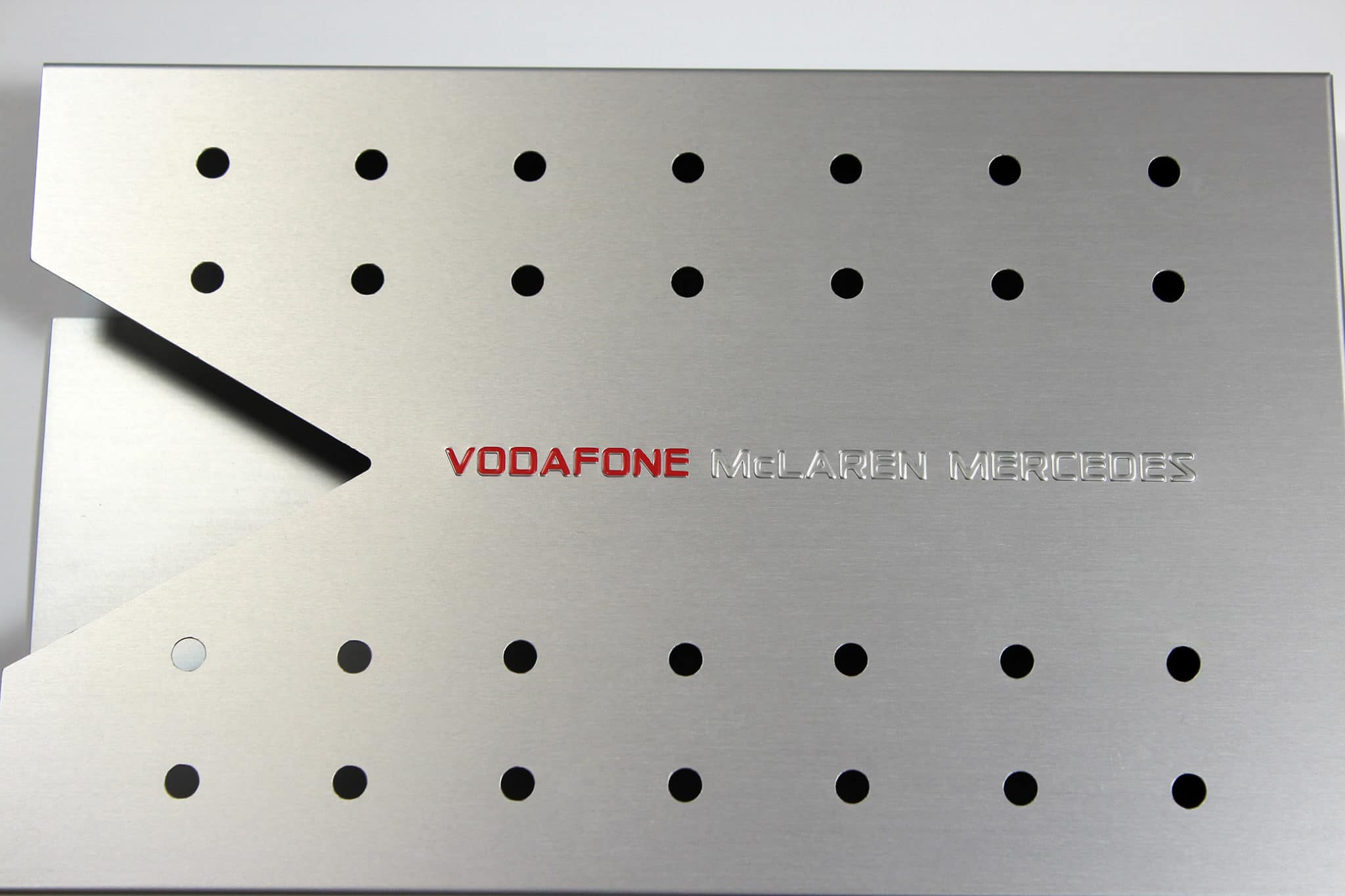 Vodafone Hotlaps metal sleeve with brochure insert