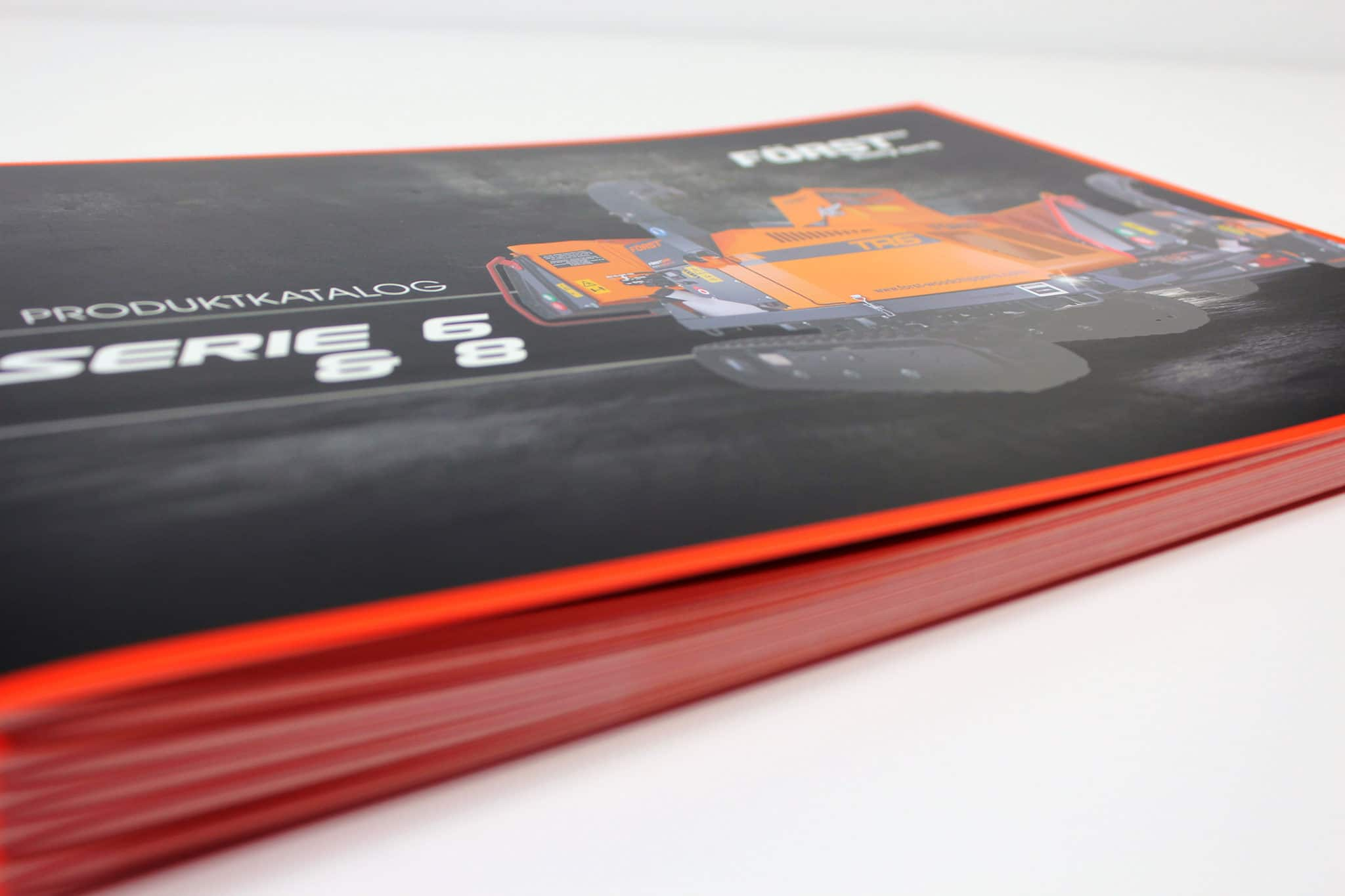Catalogue printing with spot UV and spot colour orange