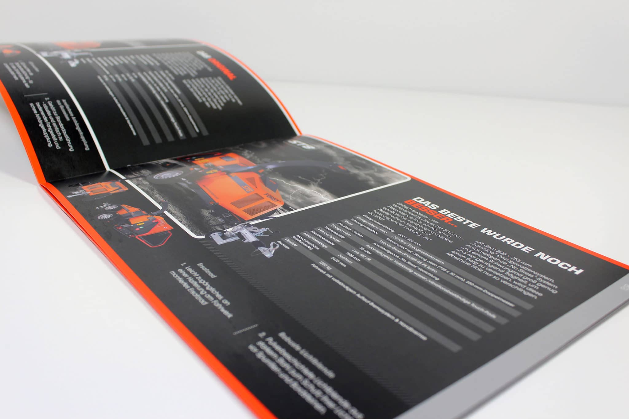 Catalogue with spot colour orange