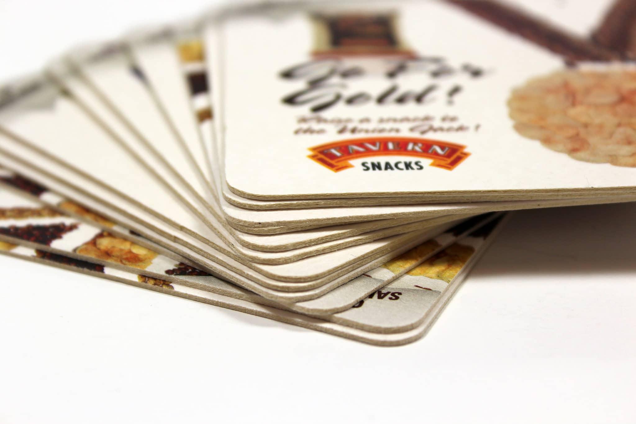 Super-absorbent, environmentally friendly beer mat printing