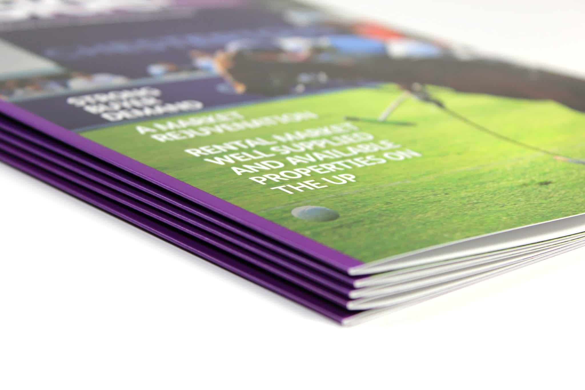 Property Brochure with matt lamination